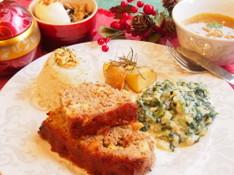 料理レッスン写真 - アメリカンクリスマス☆オーブンで簡単豪華メニュー☆ミートローフなど