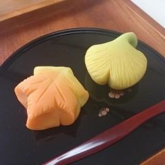 【和菓子】~練り切り~色付く秋を表現♪「紅葉」と「銀杏」を作ろう!
