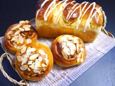 料理レッスン写真 - りんごたっぷりふわふわパンと黒糖風味の木の実ロール