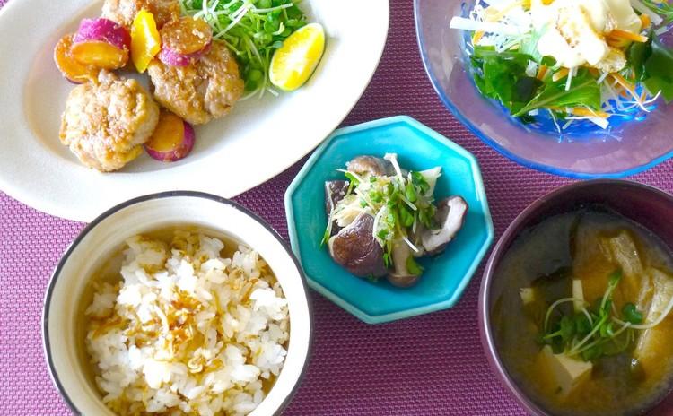 【秋定食】豚肉♪きのこ♪さつまいも♪作り置きにも!お弁当にも!