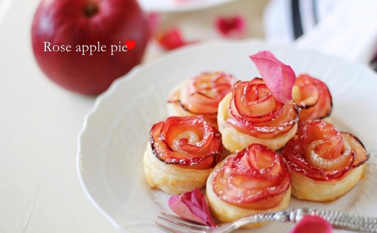 パーティーにもぴったり♪可愛い♡ローズアップルパイとふんわりギモーブ