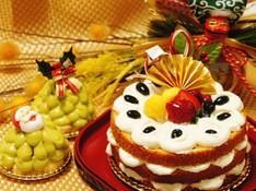 料理レッスン写真 - 【お正月】自家製だから無農薬☆黒豆のニューイヤーケーキとツリーケーキ