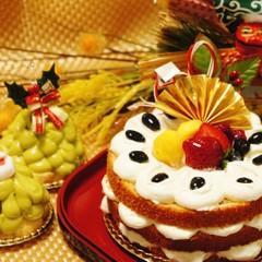 【お正月】自家製だから無農薬☆黒豆のニューイヤーケーキとツリーケーキ