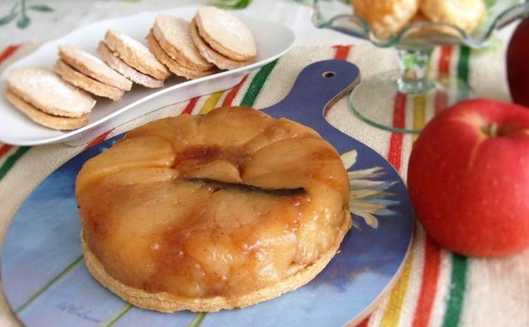 パイ生地から作る、たっぷりリンゴのタルトタタン&本格ダックワーズ