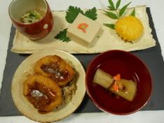 料理レッスン写真 - おうちでほっこり『お寺ご飯』風 精進御膳〜ベジうな丼やごま豆腐など〜♡