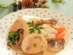 料理レッスン写真 - Xmasパーティに!鶏肉のクリーム煮、オニオングラタンスープ