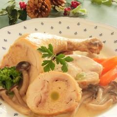 Xmasパーティに!鶏肉のクリーム煮、オニオングラタンスープ
