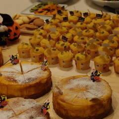 ハロウィンレッスン★パンプキンチーズケーキとかぼちゃのマフィン