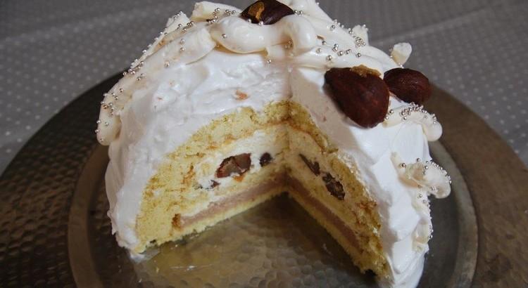 ドーム型が楽しい★白いモンブランケーキ