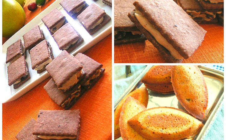紅茶に良く合う マロンクリームサンドクッキーとメープルフィナンシェ