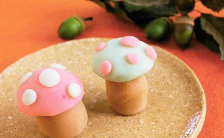 和菓子の練り切りで 「きのこ」を作りますよ〜