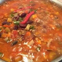 追加☆ホットなチリコンカン♪スペアリブのオレンジ煮&かぼちゃのニョッキ