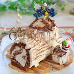 お持ち帰りのクリスマスケーキレッスン☆米粉で作る♪ブッシュドノエル☆