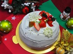 料理レッスン写真 - ビッグサイズの本格派! フルーツぎっしり クリスマススノードームケーキ