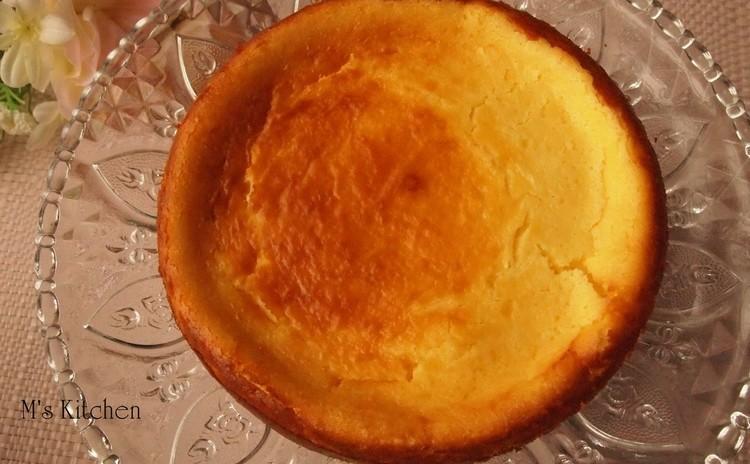 生地から作るベイクドチーズケーキ&パンナコッタ~マンゴーピュレソース~