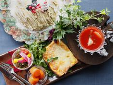 料理レッスン写真 - リッチなクロックムッシュとマロンミルクレープ。カラフルなクリスマス献立