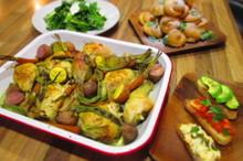 料理レッスン写真 - 冬のホリデーディナー!オーブン焼きチキンとシューのツリー