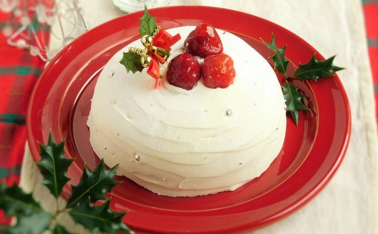ホワイトベリードーム☆真っ白なケーキで素敵にクリスマス♡
