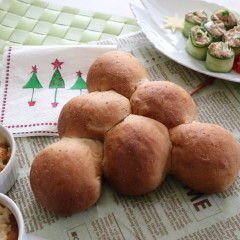 野生酵母「赤ワインとイチジクのパン」とちゃちゃっとクリスマス料理づくり