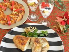 料理レッスン写真 - ローストチキンはリゾット入り リースパンとトライフルで完璧クリスマス♡