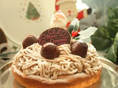 料理レッスン写真 - 「ノエルモンブラン」を手作りしてハッピークリスマス!!(17cm丸)