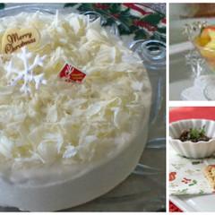 クリスマスケーキ&ティーパンチ☆ハーブ入りセサミクラッカーにタプナード