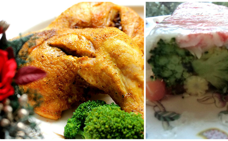 Xmasの大山鶏インディアングリルとユリ根入り彩り冷製テリーヌパートⅡ
