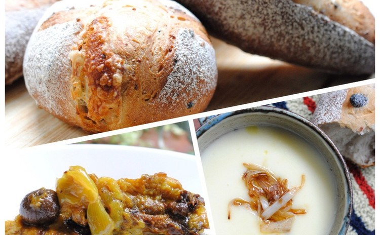 もちもち雑穀パンとスペアリブの煮込み料理で冬のおもてなし
