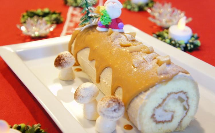 今年のXmasは*『栗とキャラメルのロールケーキ』と『デリご飯』