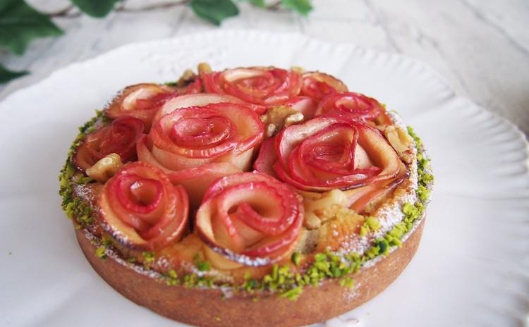 日程追加!華やか♪リンゴの薔薇タルト~ランチ付き~