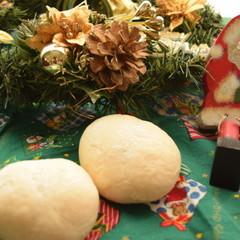 【ふわふわ♡ハイジの白パン&さくさくメロンパン】クリスマスランチ付き♪