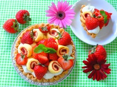 料理レッスン写真 - 春を先取り~アメリカンストロベリークリームパイ~