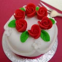 英国の美しいクリスマスケーキ