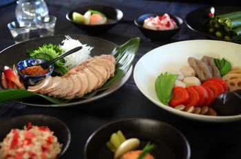 料理レッスン写真 - 蒸し豚と煮しめがメインのごちそう和食 おせちにもおもてなしにも