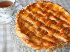 料理レッスン写真 - パイ生地を基礎から学ぶ~キャラメルリンゴのアップルパイ&白桃のムース