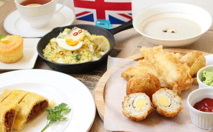 イギリス料理の献立♪パイ生地から作るミートパイ フィッシュ&チップス