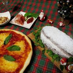 クリスマスの定番のシュトーレン!試食はピザでプチパーティー