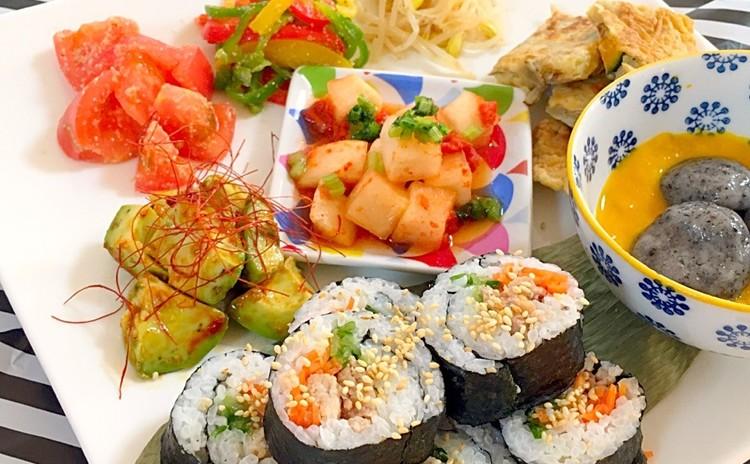 日程追加野菜たっぷり♡身体が喜ぶひと味違う盛り沢山の韓国プレート全8品