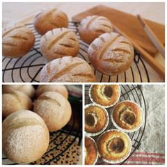 《日程追加》天然酵母でフィグとナッツのクープパンとライ麦パンスイーツ付