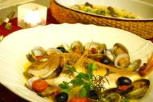 料理レッスン写真 - X'mas☆見栄え豪華な魚1尾アクアパッツァ&牡蠣のリゾット!