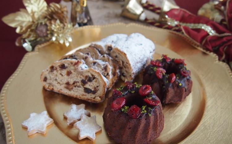 クリスマス焼き菓子♪シュトーレンとミニクグロフ~ランチつき~