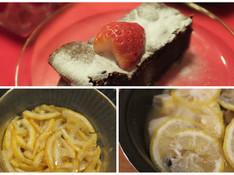 料理レッスン写真 - 日本の冬の香り「柚子」!バレンタインの濃厚ガトーショコラ&鍋で変身