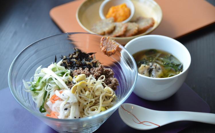 ★常備菜5種と自家製コチュジャン風味噌で作る美肌的ビビンバ★