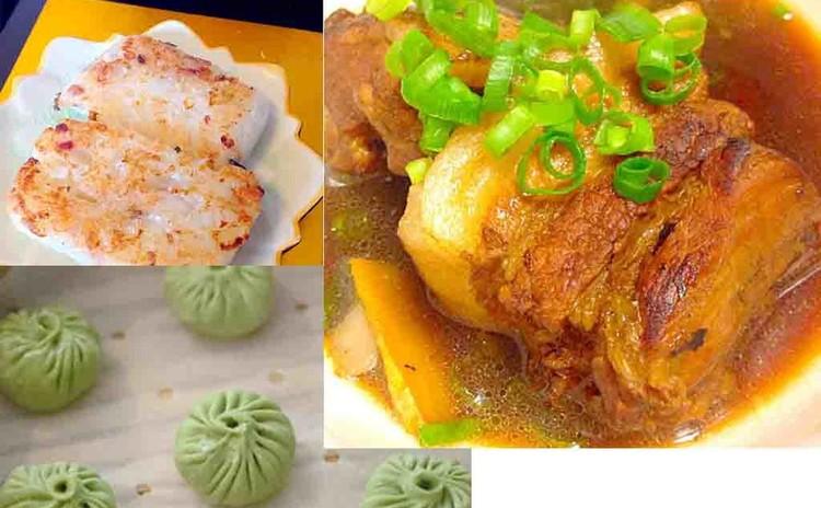 柔らか皮の蝦ショーロンポーと大根もちと炊飯器で作れるトンポーロー