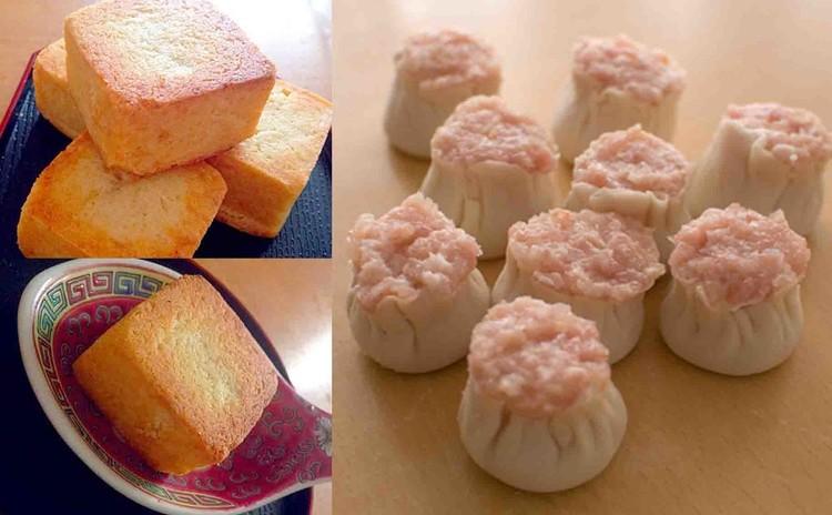 餡が3分で作れるパイナップルケーキと粉から作る!柔らか皮のシュウマイ