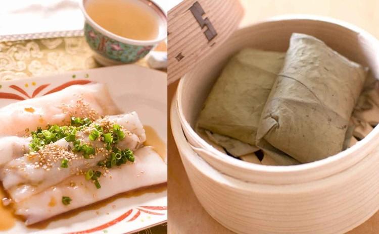 米粉で作る叉焼入り中華クレープとちまき
