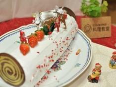 料理レッスン写真 - クリスマスには安心ミルキーロールケーキ