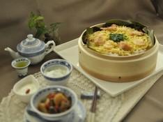 料理レッスン写真 - 冬の養生薬膳*ご馳走あったか鮭のせいろ寿司&薬膳木の実タルト