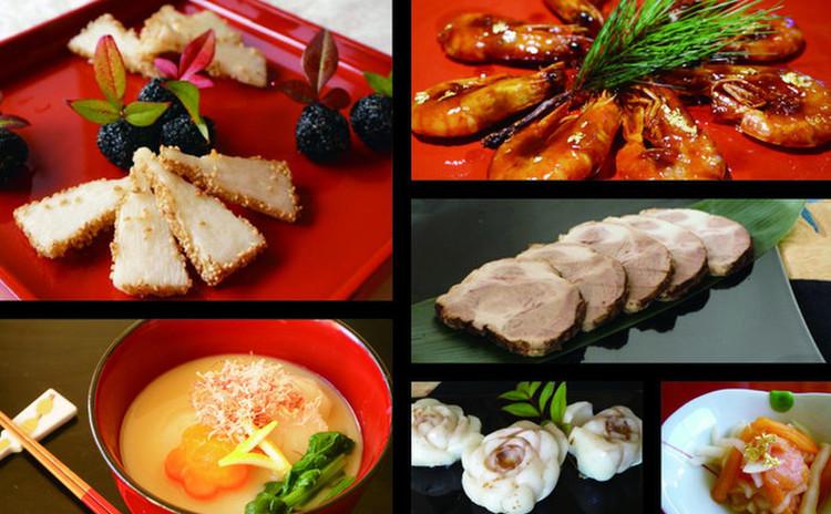 【子連れOK日】いつもと違うおせち!山芋羽子板と追羽根団子&白味噌雑煮