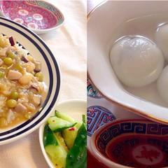 人気の中華と点心2品☆福建炒飯、鶉の卵入り蝦シューマイ、湯園